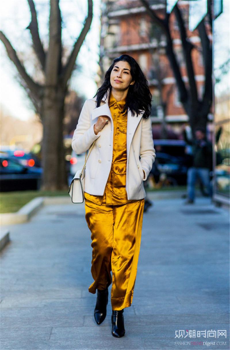 超好搭的姜黄色单品,给你迷人好气色