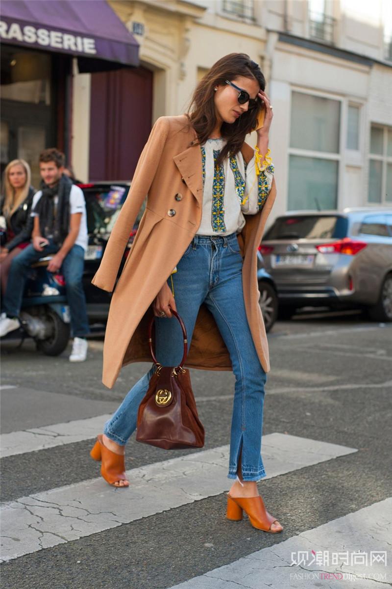 粗跟鞋N多穿法,怎么搭配都好看