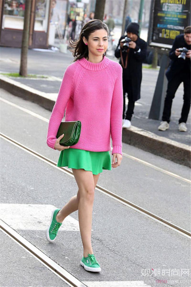 将绿色穿上身,气质女王一定非你莫属