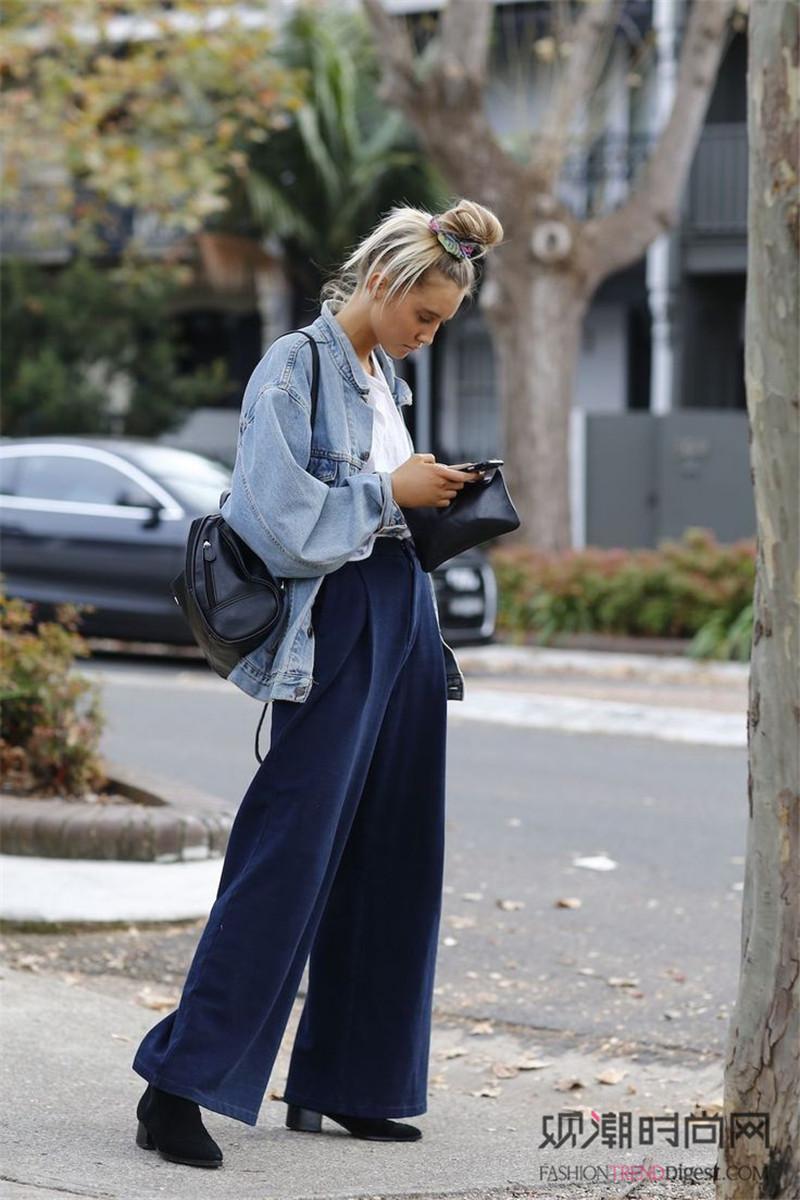 阔腿裤这样搭,显瘦又有范