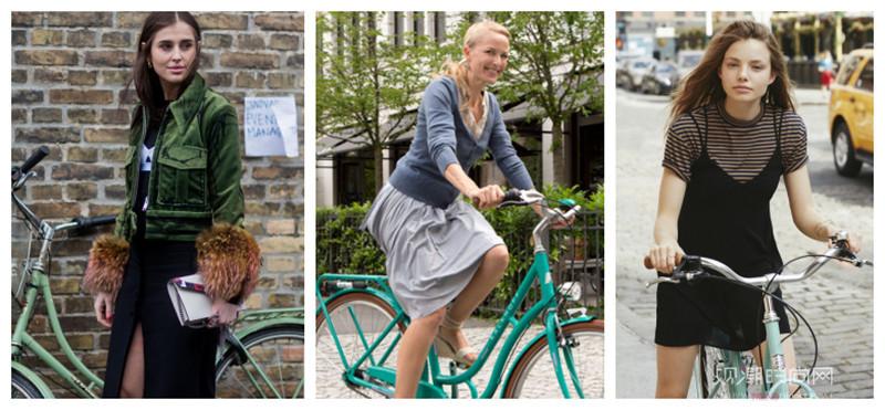 骑单车也要凹出时髦造型