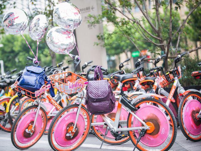 Kipling小猴子和摩拜单车开启骑妙之旅 #会装,猴有范儿#