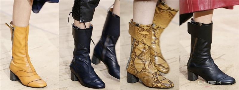 一双粗跟短靴,搞定N种秋装搭配
