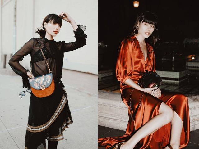 四位时尚博主最新街拍,冬季也性感