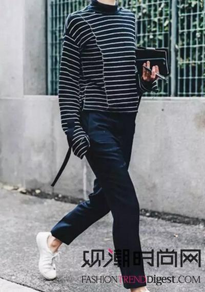 条纹毛衣如何穿才不显胖?快来学