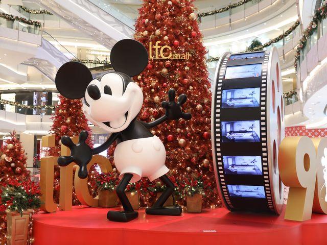 上海ifc商场 米奇90周年璀璨星光圣诞