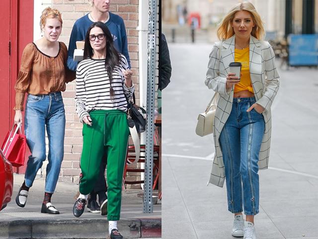 早春三月,欧美女星们的时尚街拍