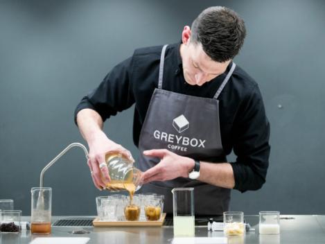 GREYBOX世界冠军咖啡师Dale Harris精品咖啡分享会,完整再现夺冠创意咖啡