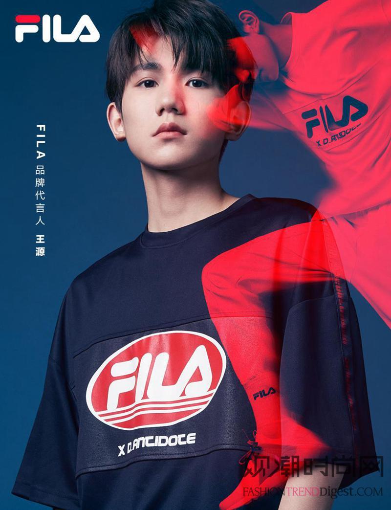 王源成为FILA全新品牌代言...
