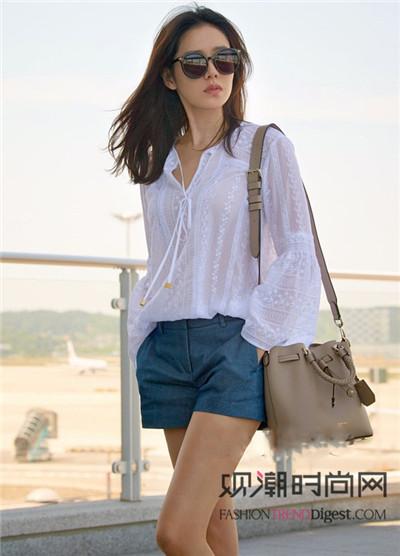 清新不油腻!感受韩国女星的街拍美搭