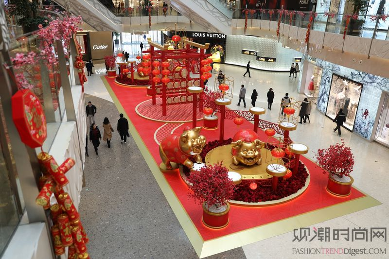 上海ifc商场 金猪贺岁迎新春