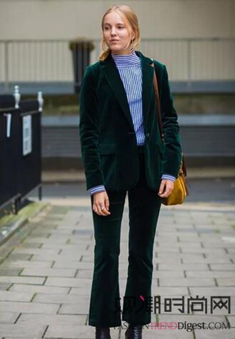 穿丝绒上衣的你也可以这样美!