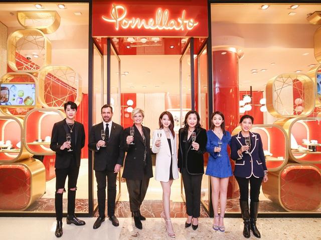 Pomellato宝曼兰朵上海国金中心精品店开幕  戚薇、张佳宁、赖冠霖共同见证璀璨时刻