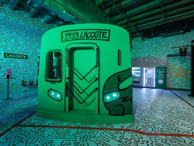 """复古地铁车厢、大型涂鸦艺术墙! LACOSTE × KEITH HARING 城市街区派对  释放""""自由之魂"""""""