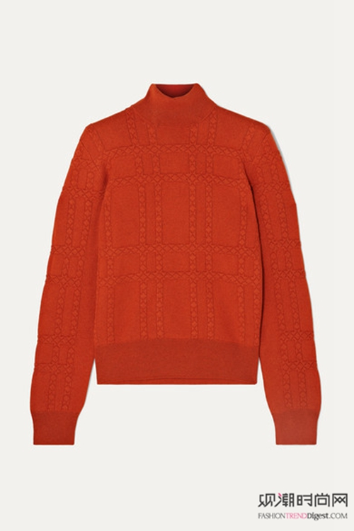 棉衣+高领毛衣成就冬季最美的你!