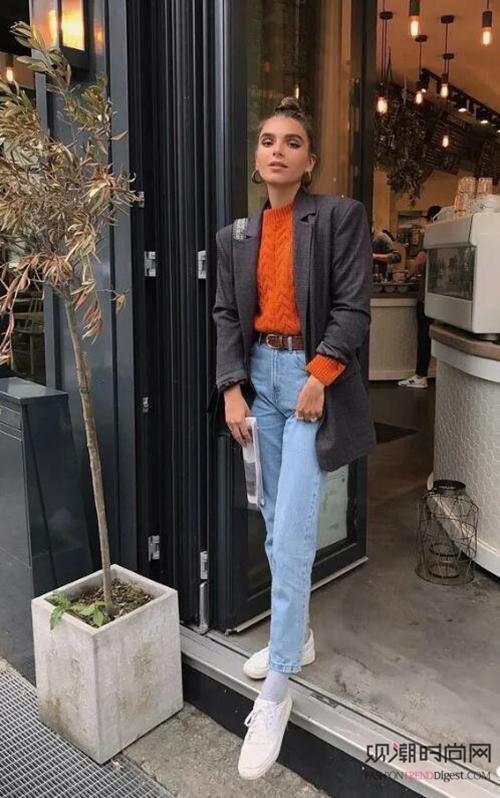 扮靓春天:外套+直筒裤