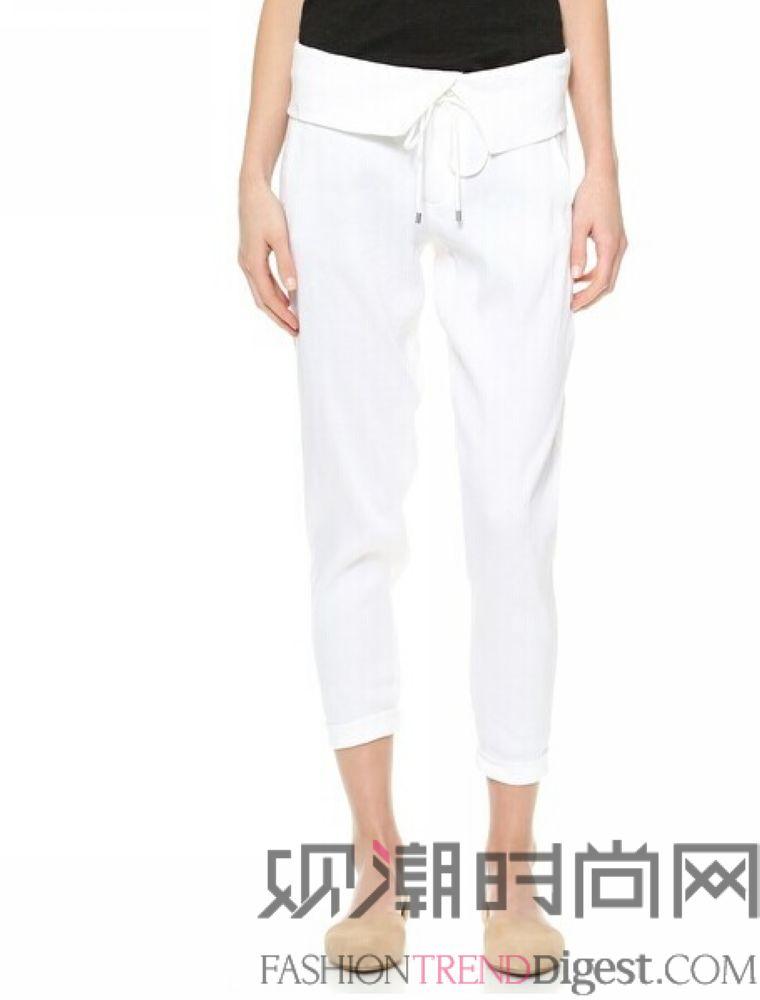 服装款式图正反面手绘图片 裤子