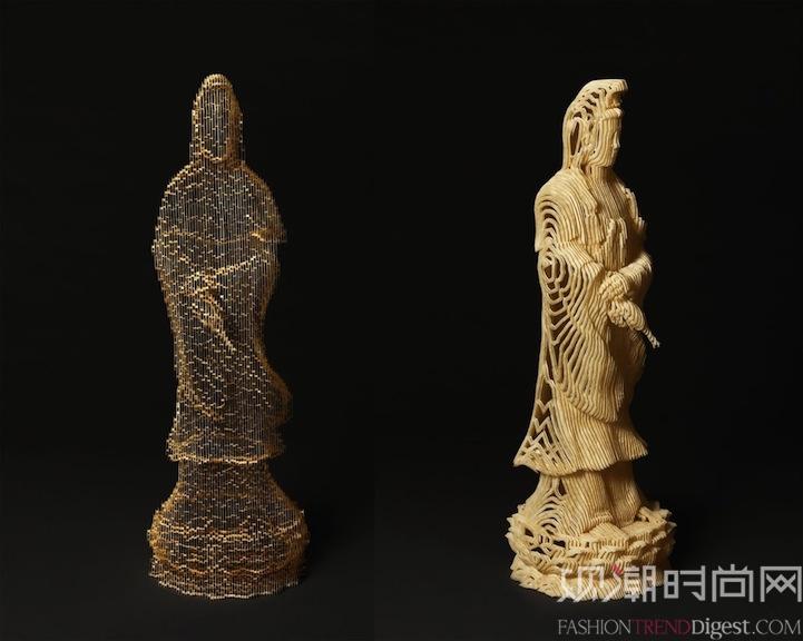 韩国艺术家Ho Yoon Shin创造出的精致的纸雕塑时而巩固而从某些角度观察又时而消失。该作品由纯手工切割的纸艺组成,复杂的雕塑显示出惊人的力量和脆弱感,半透明的雕塑会根据观察角度的不同而改变其视觉效果。