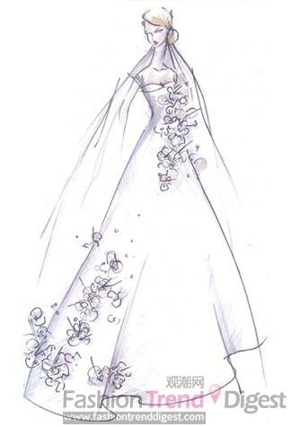 29位大牌设计师们为准王妃kate设计婚纱手稿