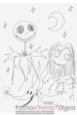 明星手绘漫画为慈善活动募捐