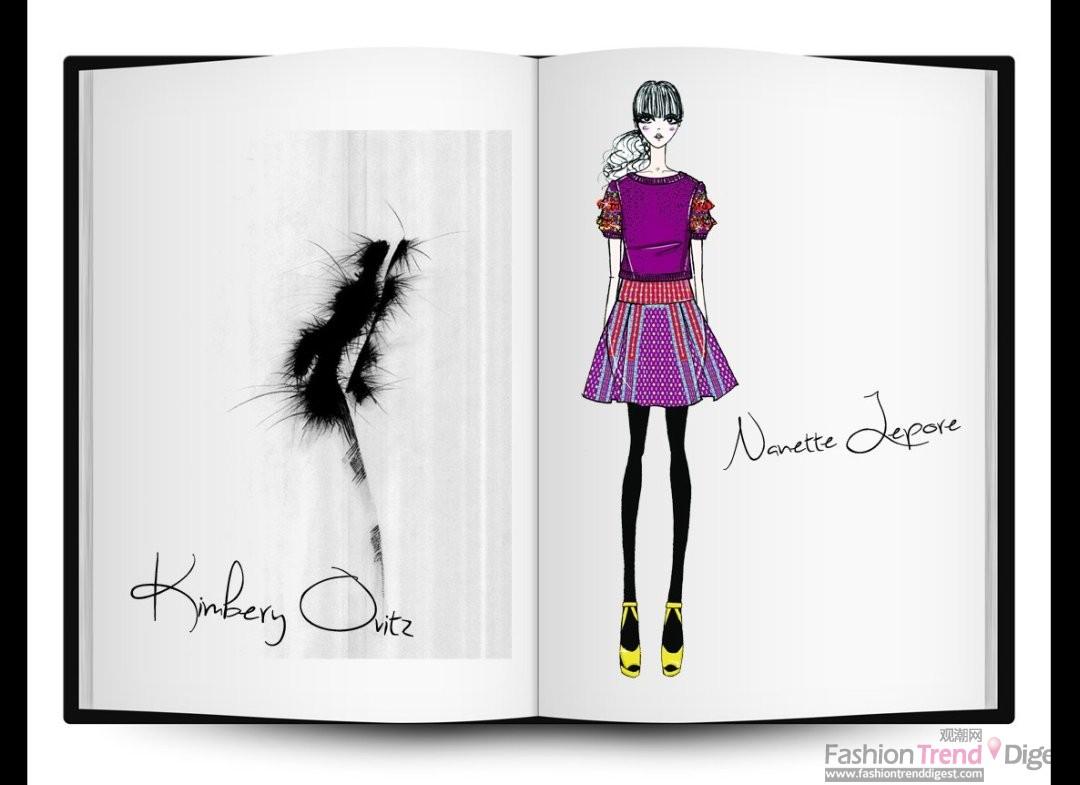 2012秋冬纽约时装周设计师草图相片
